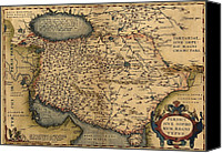 Persia Canvas Prints - 1570 Map Of Persia, From Abraham Canvas Print by Everett