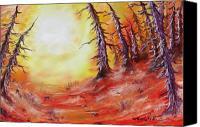 Joseph Palotas Canvas Prints - 16 Trees Canvas Print by Joseph Palotas