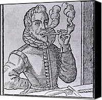 Addictions Canvas Prints - 16th Century Dutchman Smoking Canvas Print by Everett