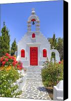 Chapel Canvas Prints - Mykonos Canvas Print by Joana Kruse