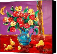 River Framed Prints Painting Canvas Prints - Roses Canvas Print by Mark Kazav