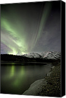 Wiseman Alaska Canvas Prints - Aurora Borealis Canvas Print by Chris Madeley