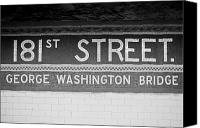 Music Special Promotions - 181st Street Subway Station Canvas Print by Andria Patino