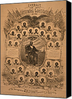 Blacks Canvas Prints - 1868 Commemorative Photo Collage Canvas Print by Everett