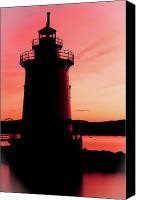 Sleepy Hollow Canvas Prints - 1883 Lighthouse at Sleepy Hollow Canvas Print by David Hahn