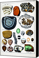 Schubert Canvas Prints - 1888 Colour Lithograph Of Minerals Canvas Print by Paul D Stewart