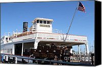 Hyde Street Pier Canvas Prints - 1890 Steam Ferryboat Eureka At The Hyde Street Pier in San Francisco California . 7D14120 Canvas Print by Wingsdomain Art and Photography