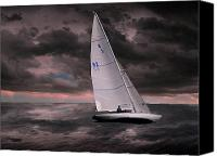 Sailboat Canvas Prints - 1892 Canvas Print by Peter Holme III
