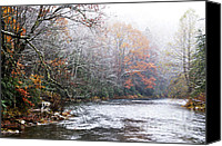 Williams Canvas Prints - Autumn Snow Monongahela National Forest Canvas Print by Thomas R Fletcher