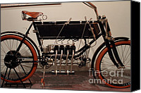 Fn Canvas Prints - 1904 FN Motorcycle - The Early Years - 7D17274 Canvas Print by Wingsdomain Art and Photography