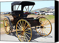 Carriages Canvas Prints - 1904 Holsman Model 3 Hi-Wheeler. 7D15449 Canvas Print by Wingsdomain Art and Photography