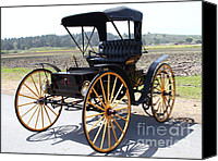 Carriages Canvas Prints - 1904 Holsman Model 3 Hi-Wheeler. 7D15454 Canvas Print by Wingsdomain Art and Photography