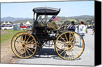 Carriages Canvas Prints - 1904 Holsman Model 3 Hi-Wheeler. 7D15456 Canvas Print by Wingsdomain Art and Photography