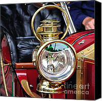 Kaye Menner Car Canvas Prints - 1907 Stanley Steamer - Lantern Canvas Print by Kaye Menner