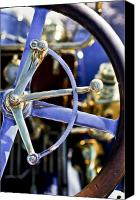 Antique Automobiles Canvas Prints - 1910 Pope Hartford T Steering Wheel Canvas Print by Jill Reger