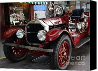 Fire Engine Canvas Prints - 1917 American La France Type 12 Fire Engine Canvas Print by Wingsdomain Art and Photography