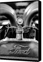 Antique Automobiles Canvas Prints - 1923 Ford Hood Ornament 2 Canvas Print by Jill Reger