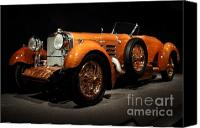 Sportscars Photo Canvas Prints - 1924 Hispano Suiza Dubonnet Tulipwood . Front Angle Canvas Print by Wingsdomain Art and Photography