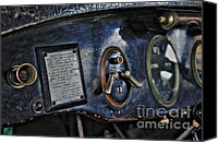 Kaye Menner Car Canvas Prints - 1924 Packard - Dash Canvas Print by Kaye Menner