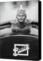 Custom Buick Canvas Prints - 1928 Buick Custom Speedster Hood Ornament 4 Canvas Print by Jill Reger
