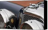 Roadster Canvas Prints - 1928 Jaguar SS100  3.5-Liter Roadster Hood Ornament Canvas Print by Jill Reger