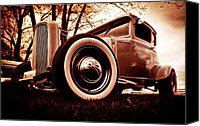 Custom Ford Digital Art Canvas Prints - 1930 Ford Model A Canvas Print by Phil