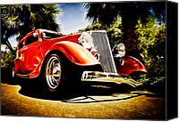 Ford Hot Rod Canvas Prints - 1930s Ford Tudor Canvas Print by Phil
