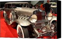 Hotrod Photo Canvas Prints - 1932 Duesenberg SJ Turing Front Angle Canvas Print by Wingsdomain Art and Photography