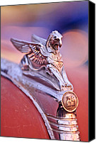 Griffin Canvas Prints - 1932 Essex Griffin Hood Ornament 4 Canvas Print by Jill Reger