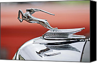 2011 Canvas Prints - 1933 Chrysler CL Imperial Custom Dual Windshield Phaeton Hood Ornament Canvas Print by Jill Reger