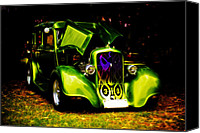 D700 Photo Canvas Prints - 1933 Plymouth Hot Rod Canvas Print by Phil