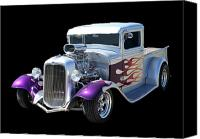 ford pick up canvas prints   1934 ford pick up custom canvas print by jack