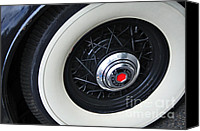 Kaye Menner Car Canvas Prints - 1934 Packard Eight - Rear Wheel Canvas Print by Kaye Menner