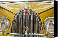 Roadster Canvas Prints - 1935 Bugatti Type 57 Roadster Grille Canvas Print by Jill Reger