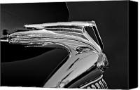 Antique Automobiles Canvas Prints - 1935 Ford V8 Hood Ornament 5 Canvas Print by Jill Reger