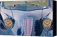 Grille Canvas Prints - 1935 Hoffman X-8 Sedan Front View Canvas Print by Jill Reger