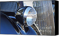 Ford Sedan Canvas Prints - 1936 Ford 2DR Sedan Canvas Print by Gwyn Newcombe