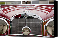 Roadster Canvas Prints - 1936 Mercedes-Benz 540K Mayfair Special Roadster Grille Canvas Print by Jill Reger