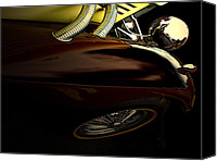 Antique Automobiles Canvas Prints - 1936 Mercedes Benz  Canvas Print by Steven  Digman