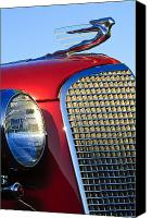 Hoodies Canvas Prints - 1937 Cadillac V8 Hood Ornament 2 Canvas Print by Jill Reger