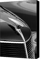 Antique Automobiles Canvas Prints - 1937 Ford Hood Ornament 4 Canvas Print by Jill Reger