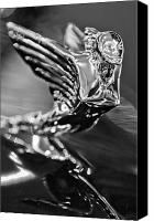 Antique Automobiles Canvas Prints - 1938 Cadillac V16 Hood Ornament Canvas Print by Jill Reger