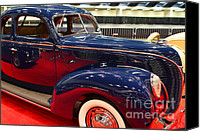 Deluxe Canvas Prints - 1938 Ford Deluxe Coupe . 7D9191 Canvas Print by Wingsdomain Art and Photography