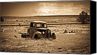1949 Plymouth Canvas Prints - 1938 Ford Pickup Canvas Print by Steve McKinzie