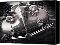 Blue Buick Canvas Prints - 1939 Buick Eight Canvas Print by Gordon Dean II