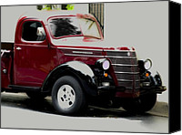 Classic Cars Canvas Prints - 1939 International Pickup Truck Canvas Print by Steven  Digman