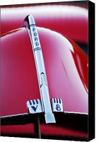 V8 Canvas Prints - 1940 Ford V8 Hood Ornament Canvas Print by Jill Reger