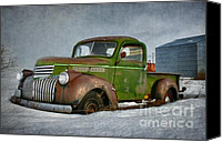Photomanipulation Canvas Prints - 1946 Chevy Truck Canvas Print by Reflective Moments  Photography and Digital Art Images