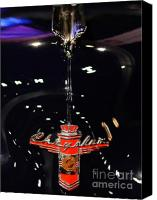 Badge Canvas Prints - 1946 Chrysler Town and Country Convertible . Hood Ornament and Badge Canvas Print by Wingsdomain Art and Photography
