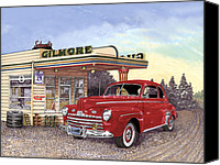 Deluxe Canvas Prints - 1946 Ford Deluxe Coupe Canvas Print by Jack Pumphrey